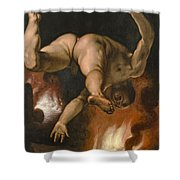 The Fall Of Ixion Shower Curtain