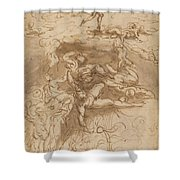 The Fall Of The Rebel Angels [recto] Shower Curtain