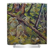 The Fallen Tree Shower Curtain