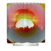 The Falling Sun  Shower Curtain