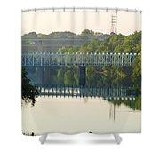 The Falls And Roosevelt Expressway Bridges - Philadelphia Shower Curtain