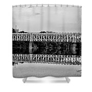 The Falls Bridge From Kelly Drive Shower Curtain