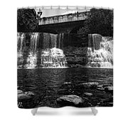 The Falls In Black And White Shower Curtain