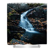 The Falls Of Black Creek In Autumn II Shower Curtain