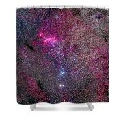 The False Comet Cluster Area Shower Curtain