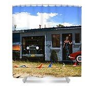 The Famous Murals On Route 66 Shower Curtain