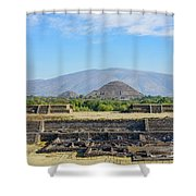 The Famous Pyramid Of The Sun Shower Curtain