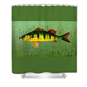 The Fanciful Limon Barb Shower Curtain