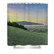 The Far Mountain Shower Curtain