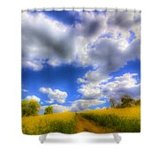The Farm Art Vista Shower Curtain