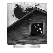 The Farm In Black And White Shower Curtain