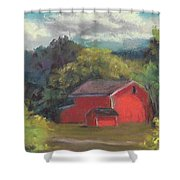 The Farm To The East Shower Curtain