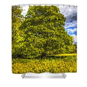 The Farm Tree Art Shower Curtain