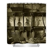 The Farmer's Toolshed Shower Curtain