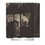 The Farrier's Shop Shower Curtain
