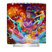 The Fathers Paint Brush Shower Curtain
