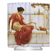 The Favorite Shower Curtain by John William Godward