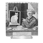 The Favourite Cat And De La Tour The Painter Shower Curtain
