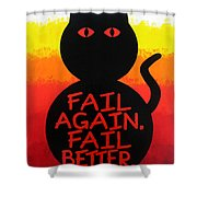The Fearline Of Failure Shower Curtain