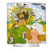 The Feast Shower Curtain