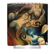 The Feathered Serpent  Shower Curtain