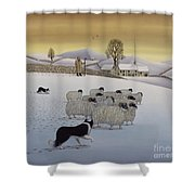 The Fells In Winter Shower Curtain