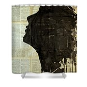 The Female Silhouette . Shower Curtain