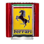 The Ferrari Logo Shower Curtain