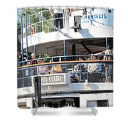 The Ferry Arrives Shower Curtain