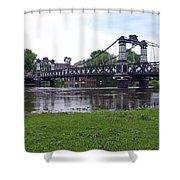The Ferry Bridge Shower Curtain