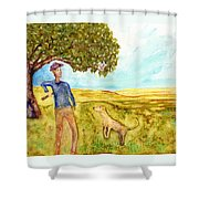 The Fetching Game Shower Curtain