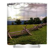 The Field Of Lost Shoes Shower Curtain