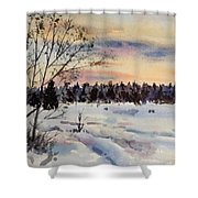 The Fields After Snow Shower Curtain