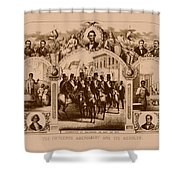 The Fifteenth Amendment And Its Results Shower Curtain