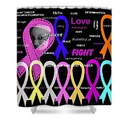 The Fight Shower Curtain