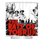 The Fighting Rats Of Tobruk  Theatrical Poster 1944 Color Added 2016 Shower Curtain