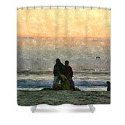 The Final Sunset Shower Curtain