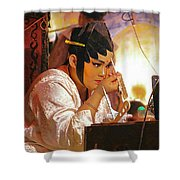 The Final Touch-chinese Opera Shower Curtain