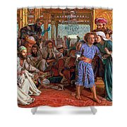 The Finding Of The Savior In The Temple Shower Curtain by William Holman Hunt
