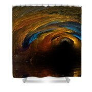 The Fire Caves Of Riagle Shower Curtain