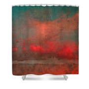 The Fire Clouds Shower Curtain