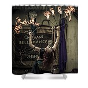 The Fire Dancer Shower Curtain