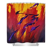 The Fire Of Life Shower Curtain
