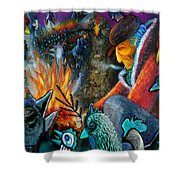 The Fire Tender Shower Curtain