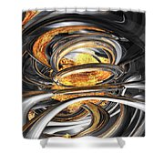The Fire Within Abstract Shower Curtain