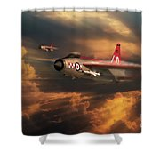 The Firebirds Shower Curtain