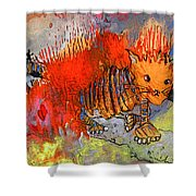 The Firecat Shower Curtain