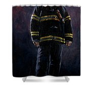The Firefighter  Shower Curtain