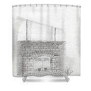 The Fireplace Shower Curtain