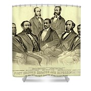 The First African American Senator And Representatives Shower Curtain